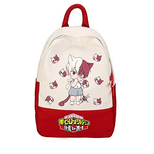 Anime My Hero Academia MHA Deku Waterproof School Backpack for Girls and Boys,Durable Nylon Cartoon Bookbag Rucksack Anti Theft School Shoulder Bag Gift for Anime fans