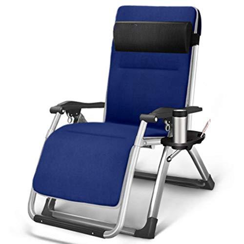 YYDD plegable silla de césped reclinable silla de gravedad silla de ocio silla reclinable lateral cómoda suave comodidad balcón playa pesca camping style3
