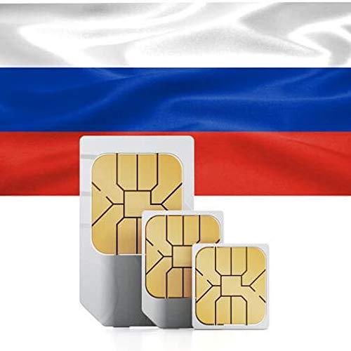 travSIM - Tarjeta SIM Prepaga Rusa(SIM de Datos para-Rusia) - 3GB de Datos Móviles para Usar en Rusia Válido por 30 Días - la Tarjeta SIM de Datos de Rusa Funciona en más de 90 Países Rusa