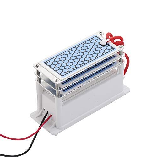 Tickas Generador de ozono de cerámica portátil 15 g/h de larga duración Tres tabletas de ozono Placa integrada Purificador de agua y aire Ozonizador,Purificador de aire de cerámica