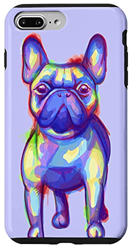 iPhone 7 Plus/8 Plus Cute Colorful Rainbow Watercolor French Bulldog Case