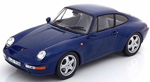 Porsche 911 (964) Carrera 1994 blau metallic, Modellauto 1:18 / Norev