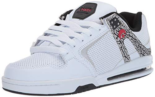 Osiris Men's PXL Skate Shoe, White/Red, 5.5 M US