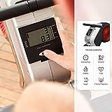 SportPlus Rudergerät für zuhause, klappbar, Rudermaschine mit Magnet- oder Turbinenbremssystem, kugelgelagerter Rudersitz, brustgurtkompatibel, Trainingscomputer, Rowing Machine, Sicherheit geprüft - 4