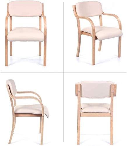 GSN Chaise à manger simple Bureau unique Chaise Accoudoirs Chaise d'ordinateur Creative chaise en bois rose Coussin fauteuils (Color : Brown) Wood Color