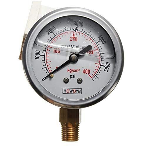 Yongse Hydraulische Flüssigkeit gefüllte Manometer 0-5000 PSI