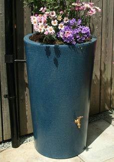 Original Organics 180 Litre Decorative Garden Planter Water Butt Rainwater Collection (Blue Stone) (Terracotta Effect)