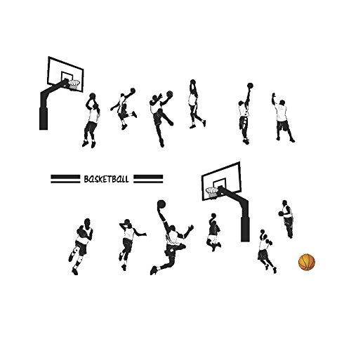 Hahuha Aufkleber, Spielen Basketball Slam Dunk Sport Wandaufkleber Abnehmbare Kunstdekore, Wohnkultur