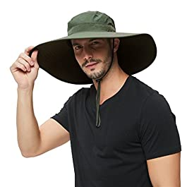 Super Wide Brim Sun Hat-UPF50+ Waterproof Bucket Hat for Fishing,...