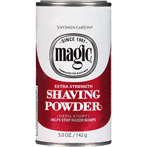 Softsheen-Carson Magic Razorless Shaving for Men, Magic Extra Strength Shaving Powder, for Coarse Textured Beards, formulated for Black Men, Depilatory, Helps Stop Razor Bumps, 5 oz