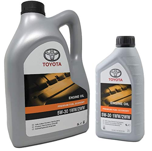 Toyota Original Motoröl PFE 5W-30 1WW 2WW, Packung 6 Liter (Dieselmotoren)
