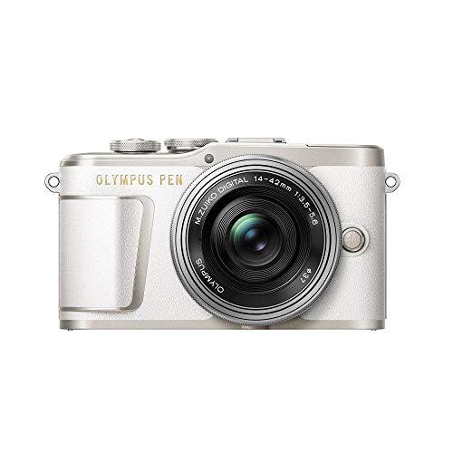 Olympus PEN E-PL9 Kit, Micro Four Thirds Systemkamera (16,1 Megapixel, Bildstabilisator, elektronischer Sucher, 4K-Video) + M.Zuiko 14-42mm EZ Zoomobjektiv, weiß/silber