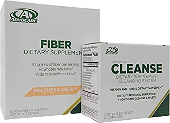 Herbal Cleanse Fiber Advocare 20 Capsules 10 Drink Pouches Peaches Cream Flavored