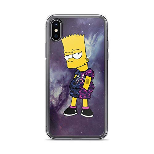 Compatible with iPhone 6 Plus/6s Plus Case Cool Boy Bart Simpson Galaxy Pure Clear Phone Cases TPU Anti Bumps Scratches Protective Cover