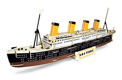 Quay- R.M.S. Titanic Woodcraft Construction Kit FSC construcción, Color marrón (P396)