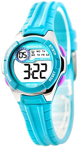 Digitale Armbanduhr XONIX Timer Stoppuhr Alarm Licht Mädchen Jungen WR100m
