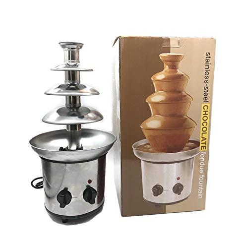Schokoladenbrunnenmaschine mit vier Schichten kreativer Schokolade mit Heizungsheizkatastemaschine, geeignet für Weihnachts- und Neujahrsparteien und Familienaktivitäten