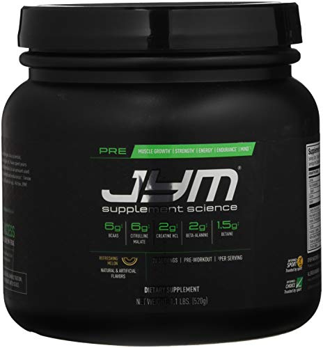 JYM Supplement Science Pre Refreshing Melon Supplement, Pack of 20