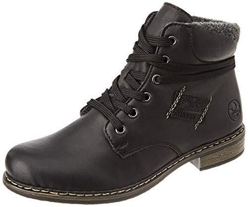 Rieker Damen 71222 Mode-Stiefel, schwarz, 38 EU