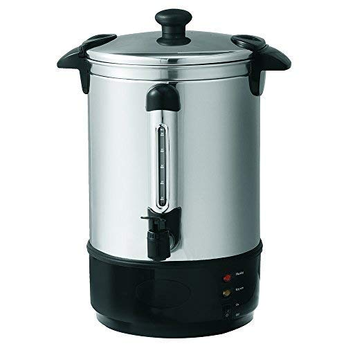 Global Gourmet 8.8 Litre (35 Cups) Stainless Steel Catering Hot Water/Tea Urn | Instant Water Heater, Boiler and Dispenser | Suitable for Commercial/Office Use | Double Wall Insulated