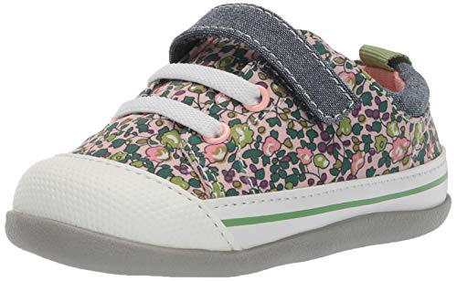 See Kai Run Girls' Stevie II INF First Walker Shoe, Pink Floral, 6 M US Infant