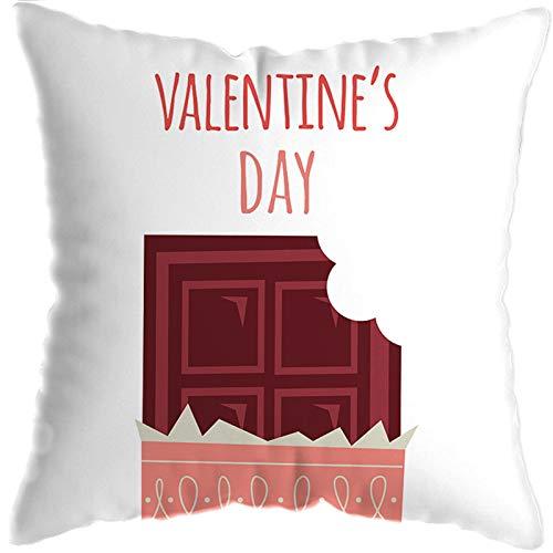 Funda de almohada cuadrada universal para parejas, funda de almohada súper suave, cómoda y transpirable con cremallera invisible, decoración del coche del sofá del dormitorio de la sala de estar
