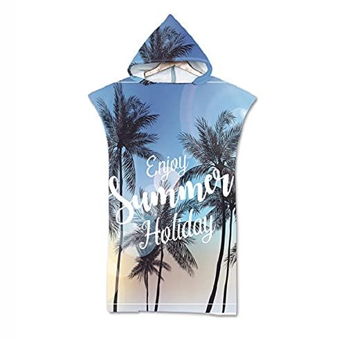 junpeng Toalla de playa con capucha de microfibra para verano, para vacaciones, para natación, playa, albornoz (color: color4, tamaño: otro)