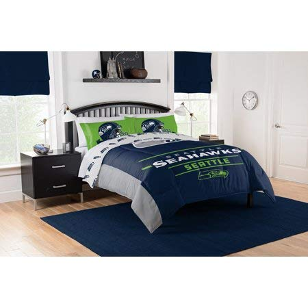 Official Seattle Seahawks Full Sheet and Comforter Set