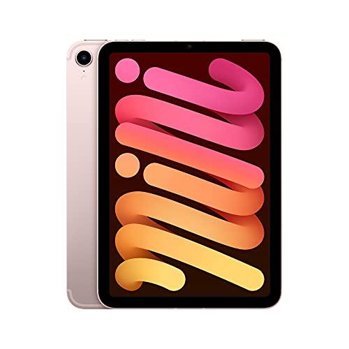 2021 Apple iPad mini (de 8,3 pulgadas con Wi-Fi + Cellular, 64GB) - Rosa (6.ª generación)