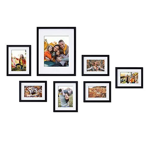 MIMOSA MOMENTS - Marco de fotos de pared con impresiones artísticas y papel mate, bueno para una foto de 20 x 25 cm, dos de 13 x 18 cm...
