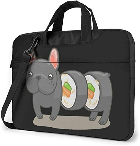 Frenchie Sushi Roll Laptop Bag Shockproof Briefcase Shoulder Bags Carrying Case Laptop 15.6 Inch