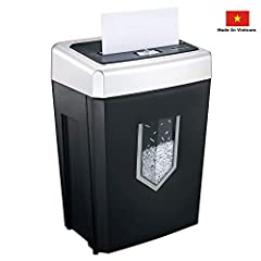 Heavy duty shredder keeps working up to 30 minutes without stopping based on the patented cooling system, destroys about 3500 sheets of paper, ideal for your large office and home use Crosscut paper shredder, max. 14 sheets of paper shredding capacit...