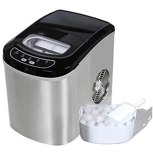 Máquina de fabricante de cubos de hielo, máquina automática portátil eléctrico con encimera de hielo Dormitorio del estudiante Home Kitchen Bares Tiendas de té de café, 15kg / 24h wmpa ( Color : A )