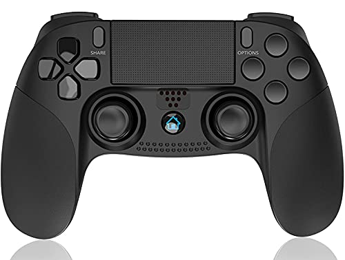 PUNWEOS Wireless Controller for PS4, Game Controller with Gyro/HD Dual Vibration/Touch Panel/LED Indicator Gamepad Remote Joystick for PS4/Pro/Slim (Black)