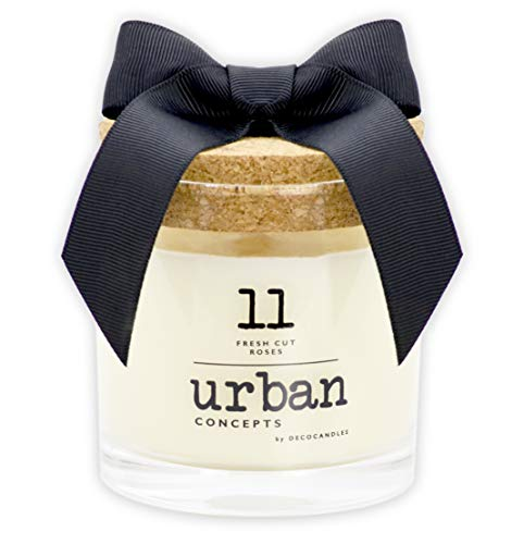 Urban Concepts by DECOCANDLES   Fresh Cut Roses - Highly Scented Candle - Long Lasting - Hand Poured in The USA - Hotel Inspired Collection - 6.7 Oz. w/ Cork