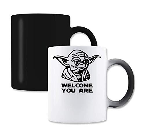 MaikesTic Yoda - Welcome You Are Tazza da caffè tè Cambia Colore Magico