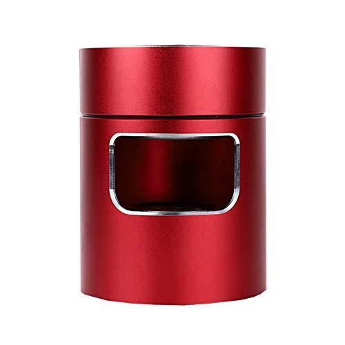 Bora 3 en 1 Multifuncional Cenicero Sin Humo Ceniceros Portátiles FiltrarUSB Recargable para Coche/Interior/Exterior Proteger la Salud Familiar (Rojo)