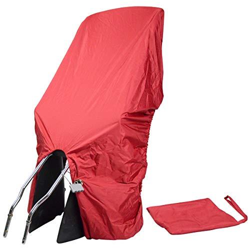 TROCKOLINO sicuro - Regenschutz für Fahrrad-Kindersitz mit Schloss, rot