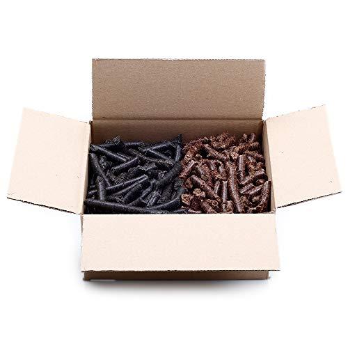 Comida para caballos, pellets suplementario para caballos de linaza y comino negro, granulado medio y medio grueso, sin avena, 1,5 kg