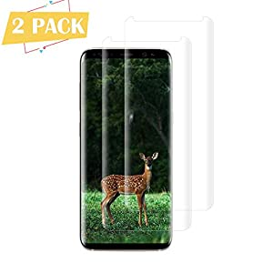 [2-Pack] Galaxy S8 Screen Protector,9H Hardness,Anti-Scratches,Anti-Fingerprint,Tempered Glass Screen Protector Film…