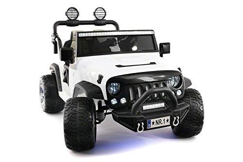 2021 Trail Explorer 12V Kids Ride-ON CAR Truck with R/C Parental Remote | White