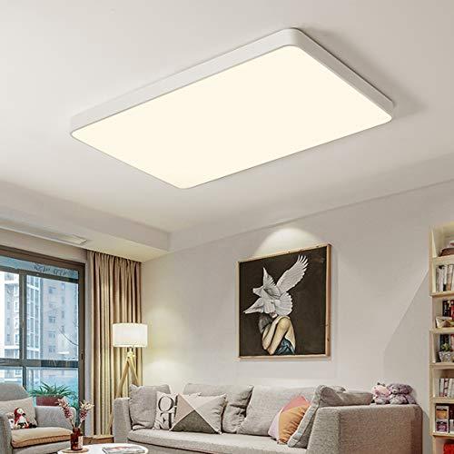 Style home 48W LED Deckenleuchte Büro Deckenlampe, voll dimmbar mit Fernbedienung, Rechteckig 65*43*5cm (Weiß)