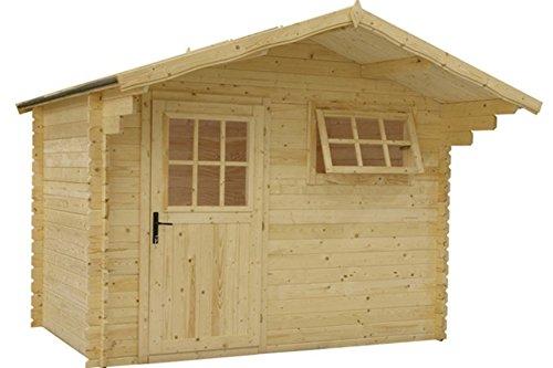 *Gartenhaus / Blockhütte Fonteyn Heleen Satteldach 300×200 cm unbehandelt*