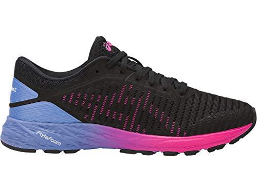 ASICS Women's Dynaflyte 2 Running Shoes, 10M, Black/HOT Pink/Persian Jewel