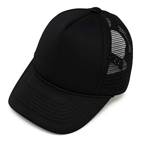 DALIX Infant Trucker Hat Baby Cap Tiny Extra Small Girls Boys in Black