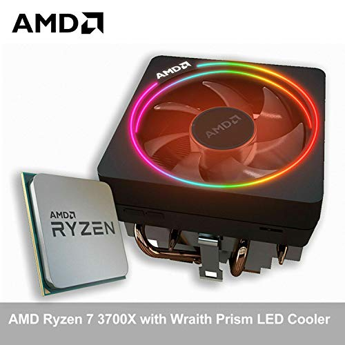 Micro Center AMD Ryzen 7 3700X Matisse Desktop Processor 8-Core Up to 4.4GHz Unlocked with Wraith Prism LED Cooler Bundle with ASUS TUF Gaming B450-PLUS II AMD AM4 Ryzen 5000 ATX Gaming Motherboard