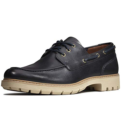 Clarks Herren Batcombe Sail Derbys, Blau (Navy Leather), 42 EU