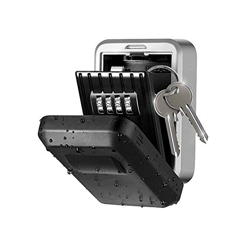 precauti Caja de Seguridad con Llave de Seguridad con Llave de Llave de 4 dígitos para el Almacenamiento de Llaves de Reserva en casa, Oficina, Escuela, Garaje