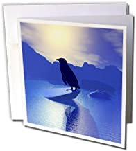 3dRose Penguin Silhouette On Ice Flow - Greeting Cards, 6 x 6 inches, set of 12 (gc_18578_2)