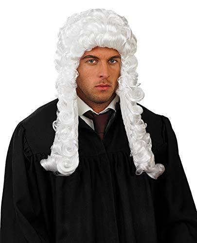 Fun Shack Peluca de Juez con Cabello Blanco y Rizado para Adultos. Accesorio de Disfraz para Hombre y Mujer